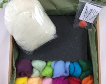 Needle Felting kit, DIY needle felting starter kit