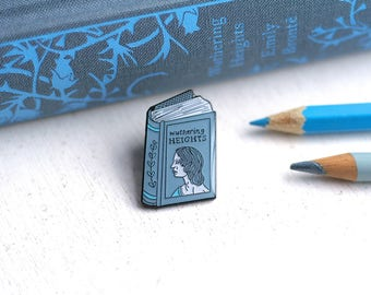 Book Pin Emily Bronte Enamel Pin Wuthering Heights Enamel Pin Badge Book Enamel Pin Book Worm Author