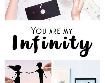 First Anniversary Gift, Couples Gift, Infinity Couple Gift, Couple Love Art, Marriage Gifts, Paper Cut Art, Custom Art, Minimalist Wall Art