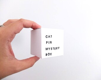 Cat Pin Mystery Box: contains ONE pin worth 23USD, gifts for cat lovers, animal lovers