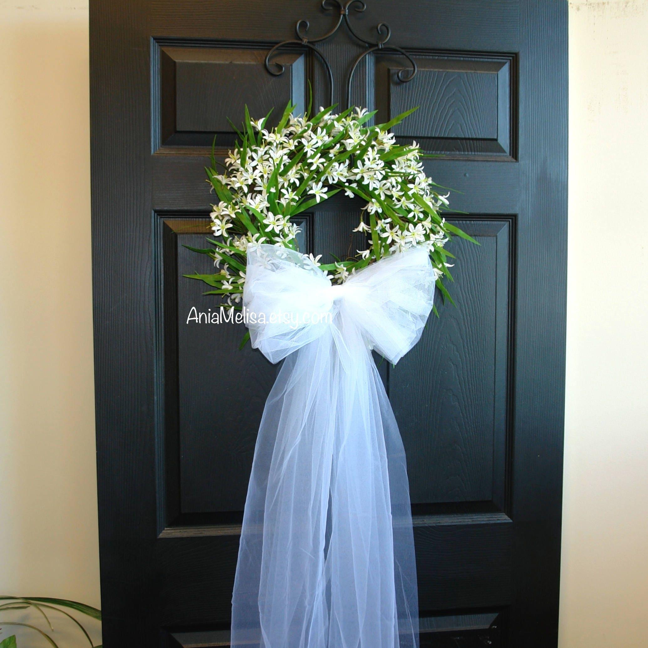 Wedding Door Decorations Ideas: Summer Wreaths For Front Door Wreaths Wedding Bridal Shower