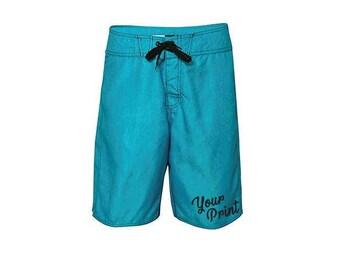 Custom Print Mens Burnside Heathered Board Shorts Swim Trunks