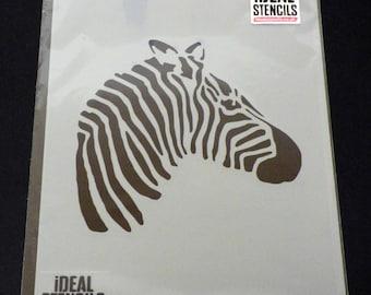 Zebra Head STENCIL, Animal Head Stencil, Home Decor, Paint Walls Fabric Furniture, Reusable