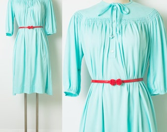 60s dress, Vintage green dress, Vintage Mint Green Dress, vintage bow tie dress, 60s mint green dress, Vintage bow tie dress - 1XL/2XL