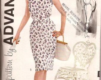 Vintage 1960s  Sundress Cocktail Sheath Dress  / Advance 9770 / Size 18 Bust 38