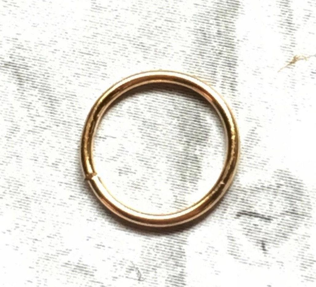 24k gold hoop 20 22 24 24k gold nose ring 24k gold