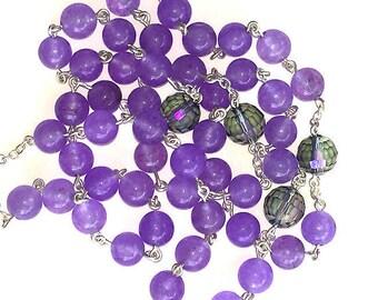 Purple Quartz St. Anthony / St. Francis Rosary