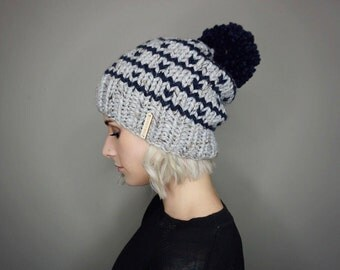 The Noelle Beanie - Choose Your Colors | Charlie & Luna Co., Slouch hat, Teen - Adult, Mens, Womens, Unisex, Warm, Soft, Striped,