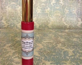 All Natural Lipgloss-Cape Coral- Coral, Peach, Pink and Tangerine. Non-sticky formula, hydrating and tastes great