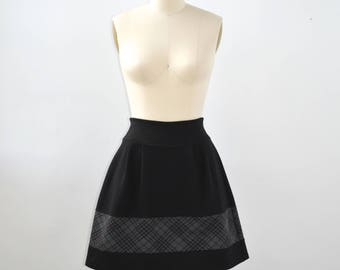Women skirt - above the knee skirt - jersey skirt - comfortable - Pleats - Jupe Parapluie Burgundy -50%