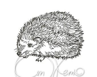 MACHINE EMBROIDERY DESIGN - Hedgehog
