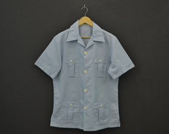Yves Saint Laurent Shirt Vintage YSL Maillots de Bain YSL Vintage Casual Shirt Made in Usa Mens Size L