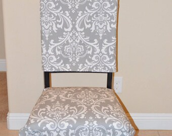 Dinning Chair Covers Two Piece For Upholstered Chairs   Chair Back Covers  With Ties,