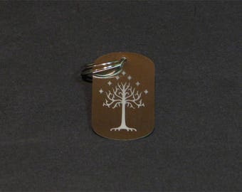 lord of the rings,Tree of gondor keychain,dog tag