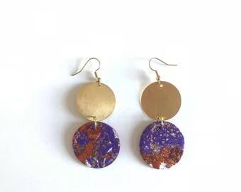 Clemson celestial earrings