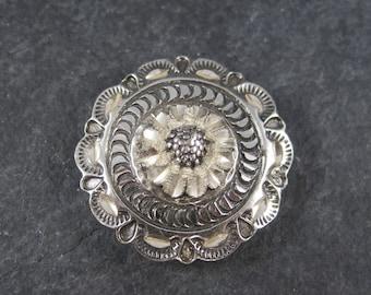 Vintage Black Hills Sterling Button Cover