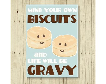 Funny Magnet, Mind Your Own Biscuits, Food Pun, Cute Fridge Magnet, Cute Magnets, Gifts Under 10, Funny Gift, Gift for Friend, Breakfast