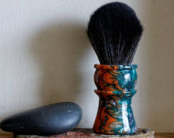 Shaving Brush - Hand-Made with Silver Venom Resin Handle and a Choice of Knots