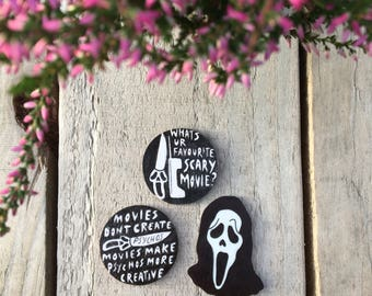 Scream Halloween Horror Pin Badge Collection