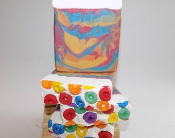 Artisan Bar Soaps, Fruit Loops, Soap Gifts, Soap Bars, Great Gifts, Handmade, Colorful, Kid-Friendly, Handcrafted, Melt and Pour Soaps,