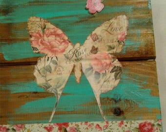 Rustic Butterfly wall hanging