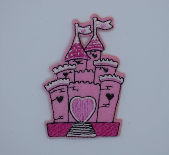 Pink Princess Castle Iron on Patch