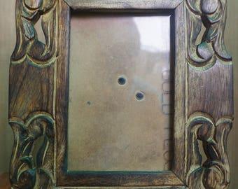 Mango Wood Burnt Finish Photo Frame (picture frame)