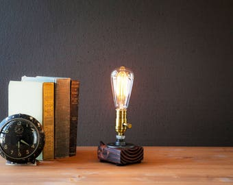 Edison Lamp Rustic Decor Unique Table Lamp Industrial Lighting Steampunk  Lamp