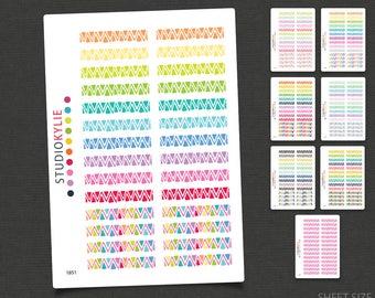 Whimsical Chevron Border Sticker -  To suit Erin Condren Life Planners & others - Repositionable Matte Vinyl