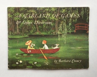A Garland of Games and Other Diversions: An Alphabet Book by Barbara Cooney ~ Colonial Williamsburg ~ 1969 Children's Book