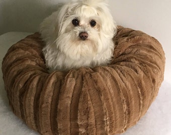 Small Dog Bed, Cappuccino, Teacup dog bed, Small dog bed, Cat bed, Round dog bed
