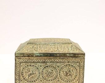 20th Century Engraved Metal Box