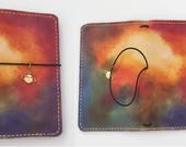 Leather Travelers Notebook with pockets - Cosmic Stitchdori - TN - Planner - Handmade - Journal Notebook  - Fauxdori - Build Your Own