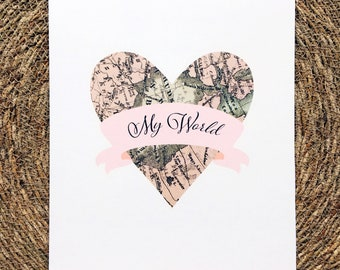 My World quote Wedding print