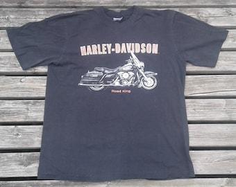 "Vintage 80's / 90's Harley-Davidson ""Road King"" Niagara Falls, Canada double-sided t-shirt"