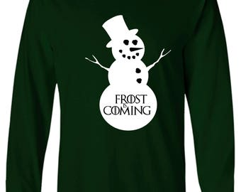 Game of Thrones Inspired Frost Is Coming Long Sleeve