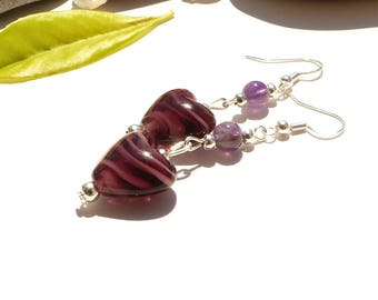 "Earrings ""Tissania"" "", silver clasps 925 Amethyst earrings Amethyst earrings"