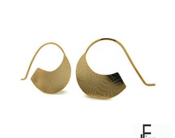 Gold style mapuche earrings, handmade earrings,gold plated earrings,gold earrings,Engraving earrings, silver plated earring, casual earrings