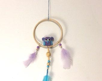 Purple-Blue Owl Mobile