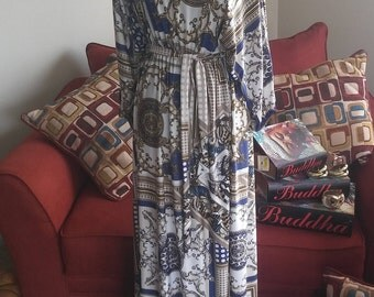 Vintage Style ( Not Vintage) Maxi Dress w/ Belt by Siam Trendy **Can fit sizes L - 3x**