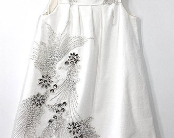 Corduroy Pinafore with Beaded Detail