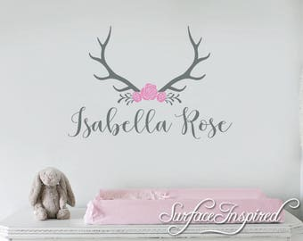 Nursery Wall Decals. Personalized names wall decal for girls rooms. Personalized wall decal made in any colors and size you want