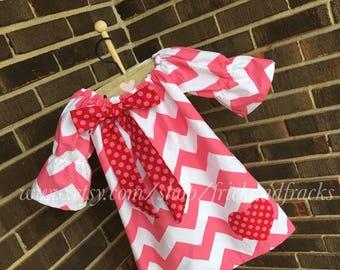 Valentine's Day Dress, Baby Valentine's Day Dress, Baby Valentine's Outfit, Toddler Valentine's Day Dress, Toddler Valentine's Outfit, Girl