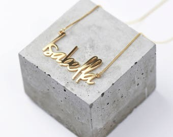 Gold Name Necklace • Personalised Name Necklace • Custom Name Necklace • Custom Name Jewellery • Personalised Necklace Gift • Any Name