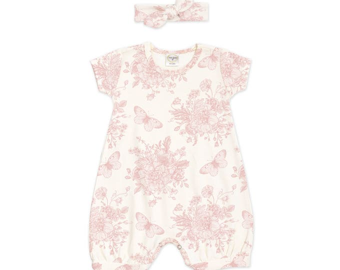 SUMMER SPECIAL! Newborn Girl Outfit, Baby Girl Outfit, Newborn Girl Coming Home Outfit, Baby Bubble Romper, Floral Romper RH52BG59BBG