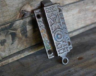 Working Vintage Spring Door Latch - Victorian Hardware - Eastlake design - Spring Latch Hardware - Salvaged Hardware - Architectural Salvage