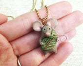 Little Mouse Charm (or Mini Ornament) - One of a Kind Art Charm