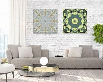 Set of 2 Canvas Prints ~ Unique Mandala Wall Art ~ Feng Shui Wall Decor ~ Modern Home Accessories ~ Nature Photography ~ Australia
