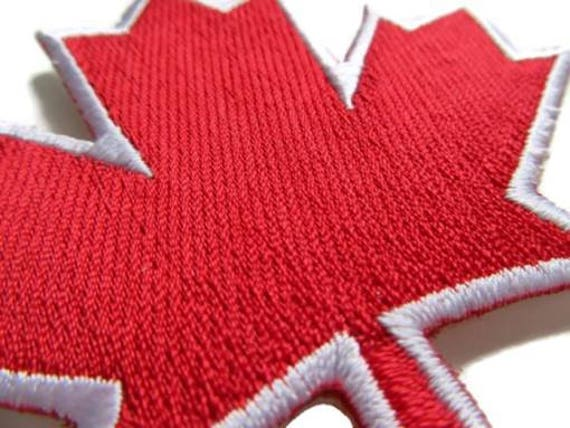 Sale red maple leaf iron on patch canada