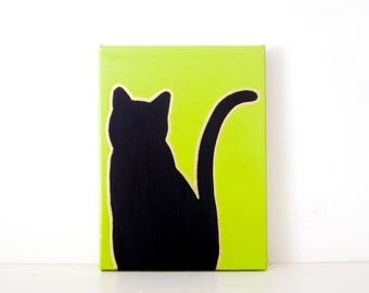 black cat black cat painting spooky halloween decorations black cat halloween decoration